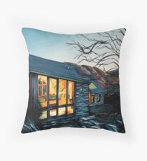 Wales Cottage at Dusk Throw Pillow