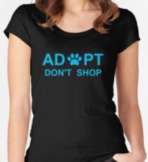 Adopt. Don't Shop. Women's Fitted Scoop T-Shirt