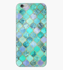 Cool Jade & Icy Mint Decorative Moroccan Tile Pattern iPhone Case
