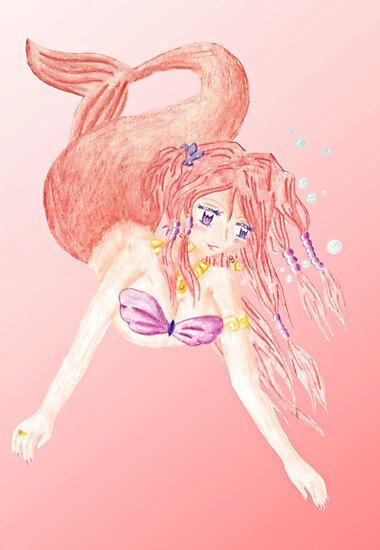 Pink Mermaid by Akiqueen