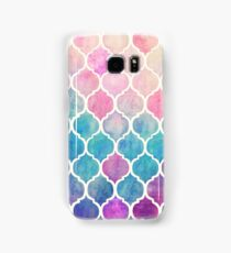 Rainbow Pastel Watercolor Moroccan Pattern Samsung Galaxy Case/Skin