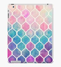 Rainbow Pastel Watercolor Moroccan Pattern iPad Case/Skin