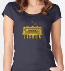 Lisboa yellow Women's Fitted Scoop T-Shirt