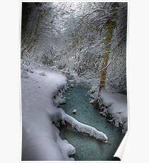Snowy Stream Poster