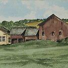 Farm In Summer by Charlotte  Blanchard