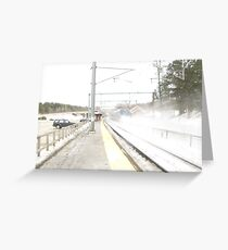 Snow Acela Greeting Card