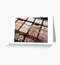 factory reflection Greeting Card