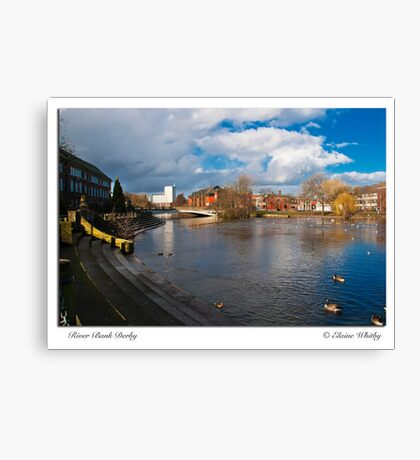 River side in Derby Center Canvas Print