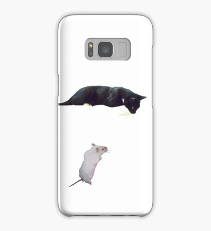 Cat and mouse Samsung Galaxy Case/Skin