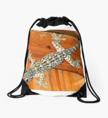 gecko, the sound of Asia Drawstring Bag