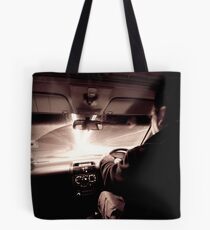 Driving down the highway of light Tote Bag