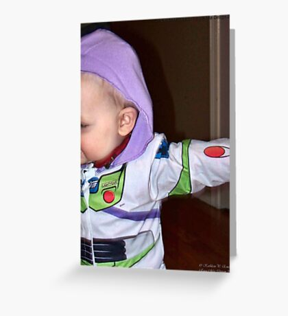 Buzz Lightyear Dodging the Paparazzi Greeting Card