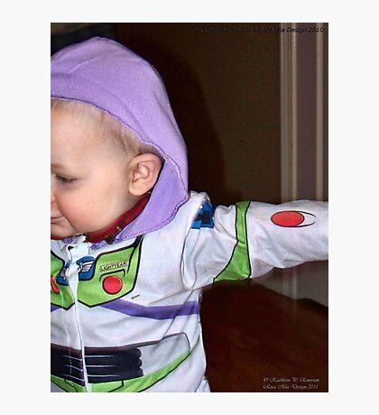 Buzz Lightyear Dodging the Paparazzi Photographic Print