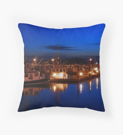 Dusk on Gloucester's Day Boats Throw Pillow