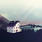 Castle in the Mountains by schwebewesen