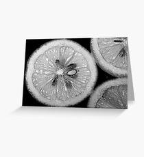 Lemon Texture Greeting Card