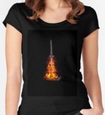 Nietnono Shana (Unrelenting Flame) Women's Fitted Scoop T-Shirt