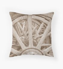 The invention of the wheel Throw Pillow