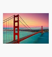 Golden Gate Bridge - Sunset Photographic Print