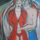 Valentines Sweethearts - Red Love by Anthea  Slade