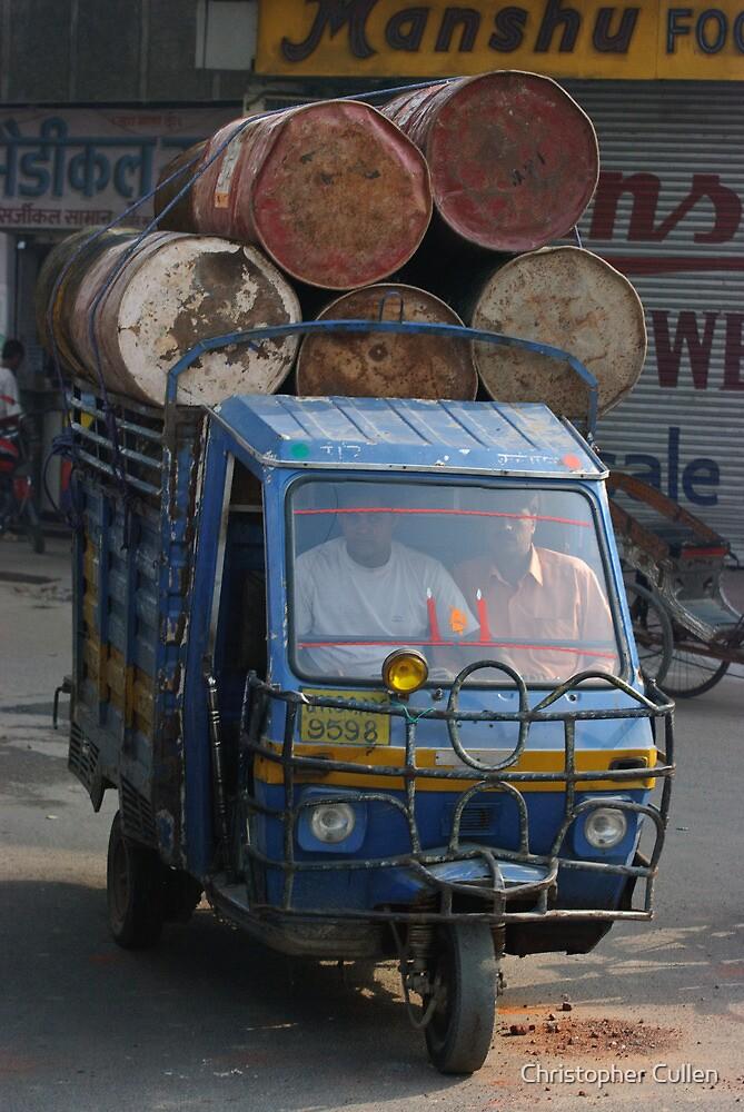 Overloaded Tuk-tuk, Jaipur, India by Christopher Cullen