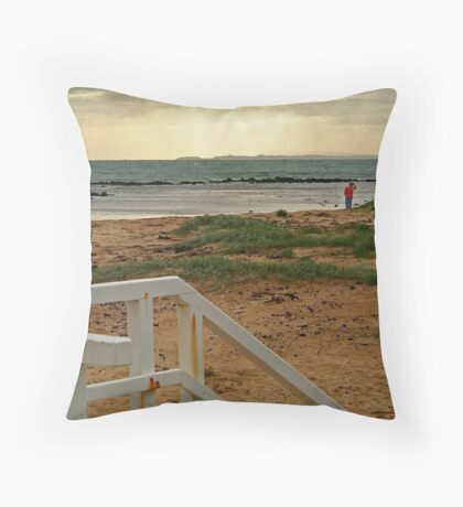 View from Barwon Heads to the Rip Throw Pillow