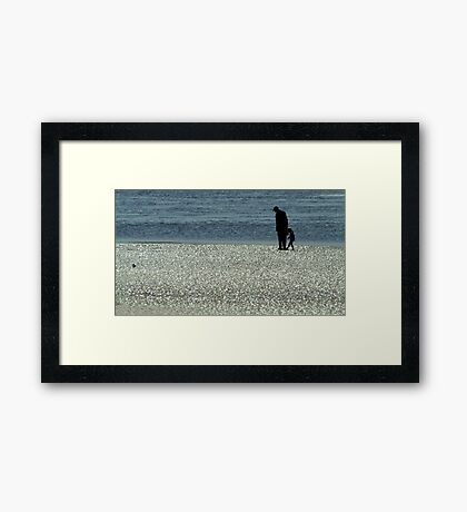 Exploring Low Tide Framed Print