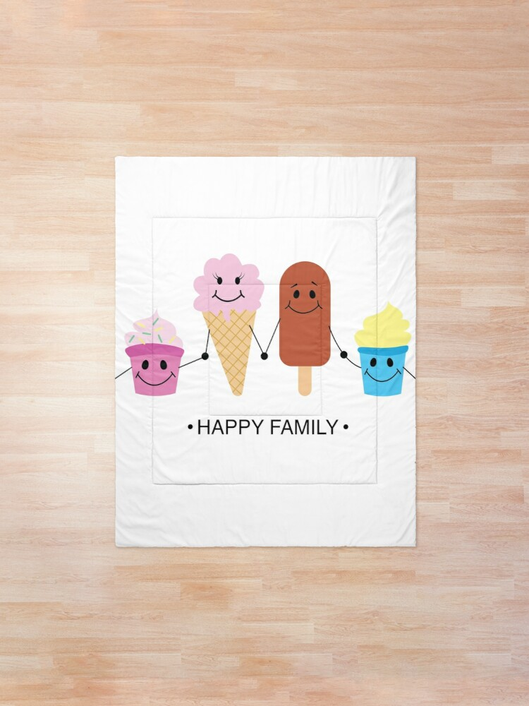 Alternate view of Happy family Comforter