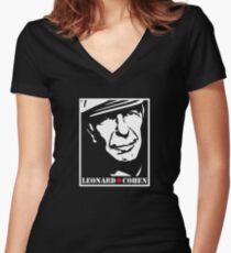 Leonard Cohen Shirt mit V-Ausschnitt