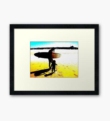Surf Generations Framed Print