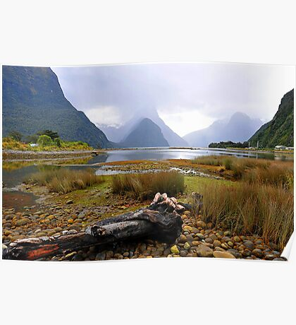 Milford Sound. South Island, New Zealand. Poster