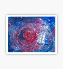 TARDIS in watercolour 01 Sticker