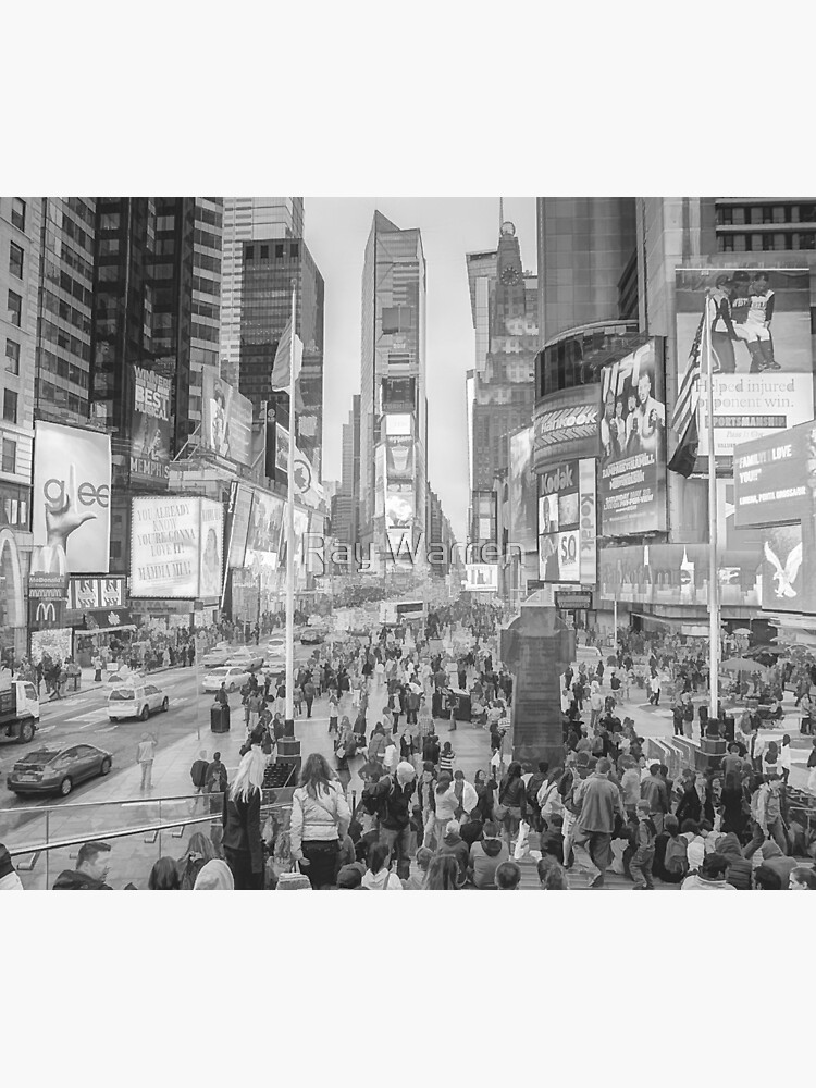Times Square Tourists (pencil and ink sketch) by RayW