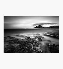 Bamburgh at High Tide Photographic Print