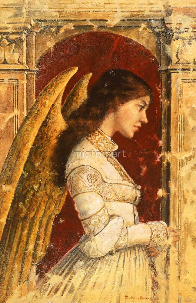 Pre-Raphaelite Fresco Angel by mictomart