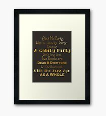 Gatsby Party - Gold and Black Framed Print