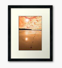 ballybunion scenic red sunrise Framed Print