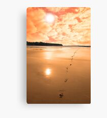 ballybunion scenic red sunrise Canvas Print