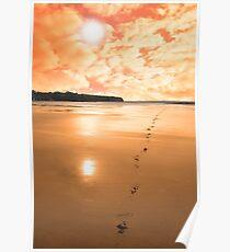ballybunion scenic red sunrise Poster