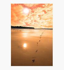 ballybunion scenic red sunrise Photographic Print