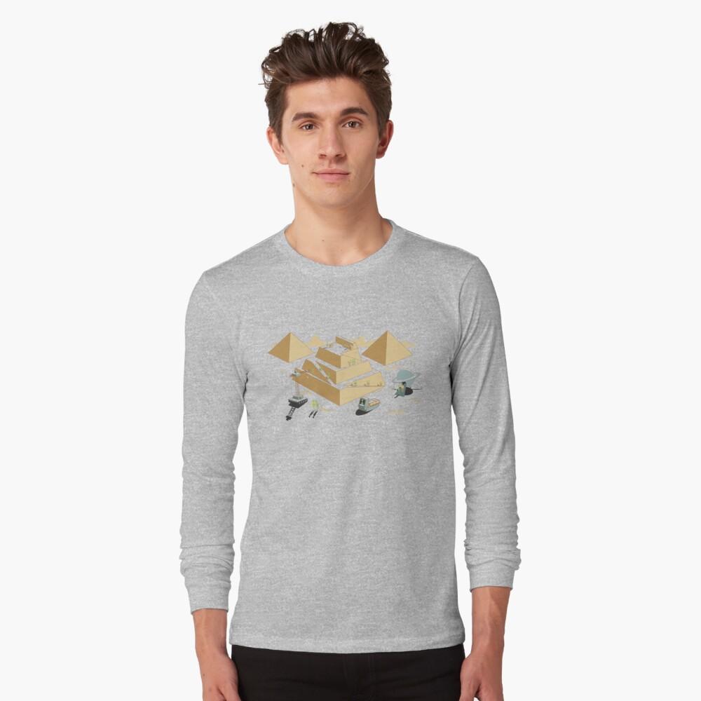 Pyramids Long Sleeve T-Shirt Front