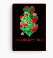 the christmas ball tree Canvas Print