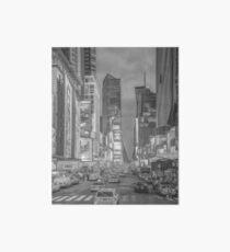 Times Square Broadway (pen & ink sketch) Art Board Print