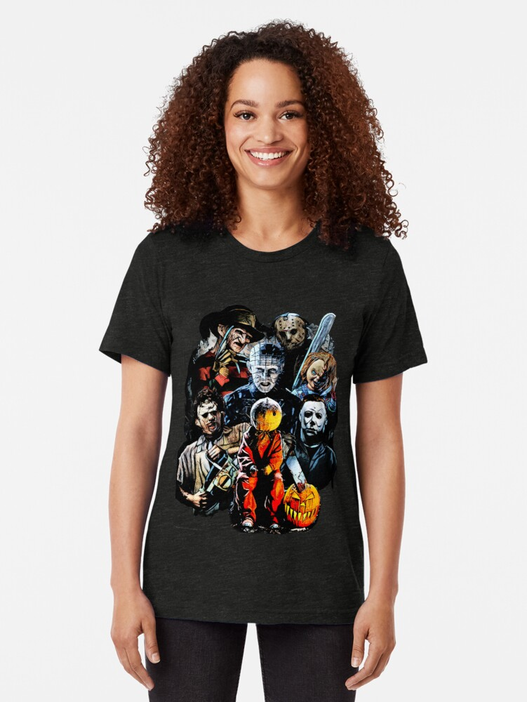 Alternate view of Horror Tri-blend T-Shirt