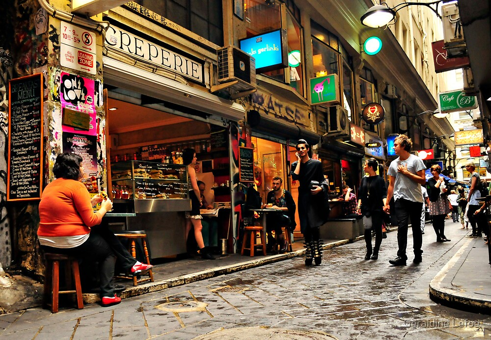 Being cool in Centre Place by Geraldine Lefoe