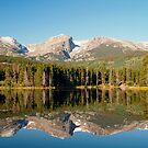 Mirror reflections on Sprague Lake by Alex Cassels