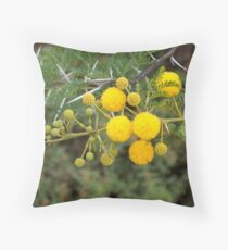 As die soetdoring blom... Throw Pillow