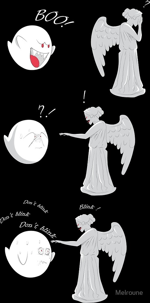 boo vs Weeping angel ! don't blink! by Melroune