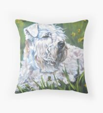 Soft-coated Wheaten Terrier Fine Art Painting Throw Pillow