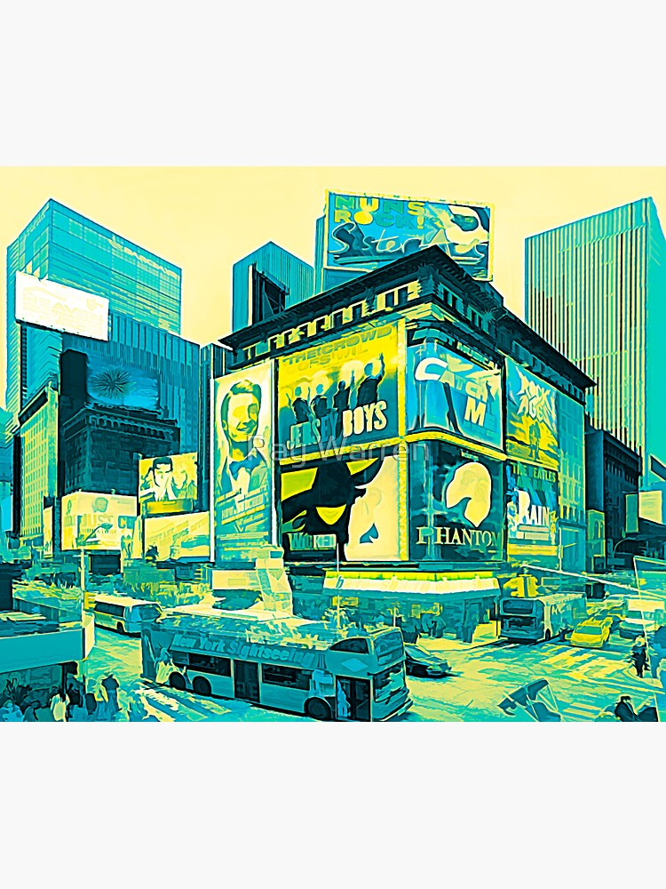 Times Square III (tricolour abstract paint) by RayW